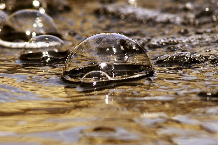 bubbles in water. Is it ever okay to live in a psychological bubble?